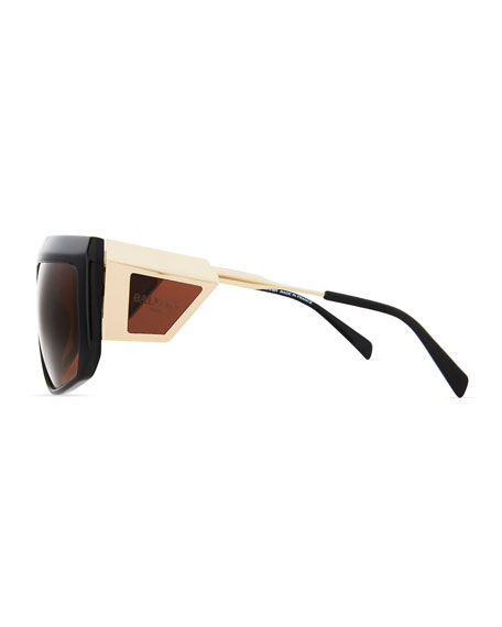 Acetate Shield Sunglasses