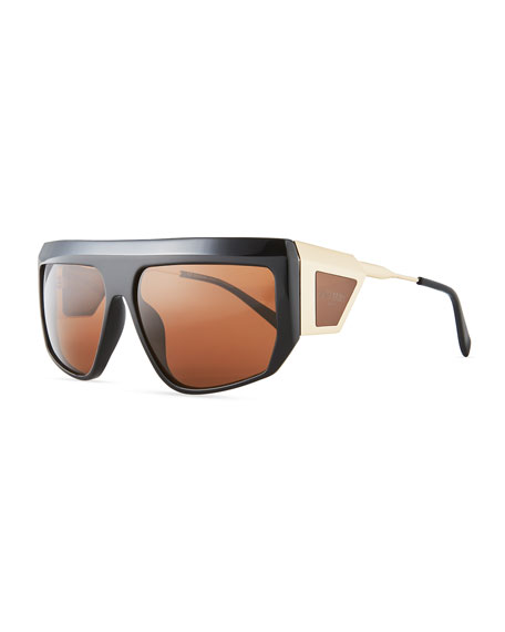 Balmain Acetate Shield Sunglasses