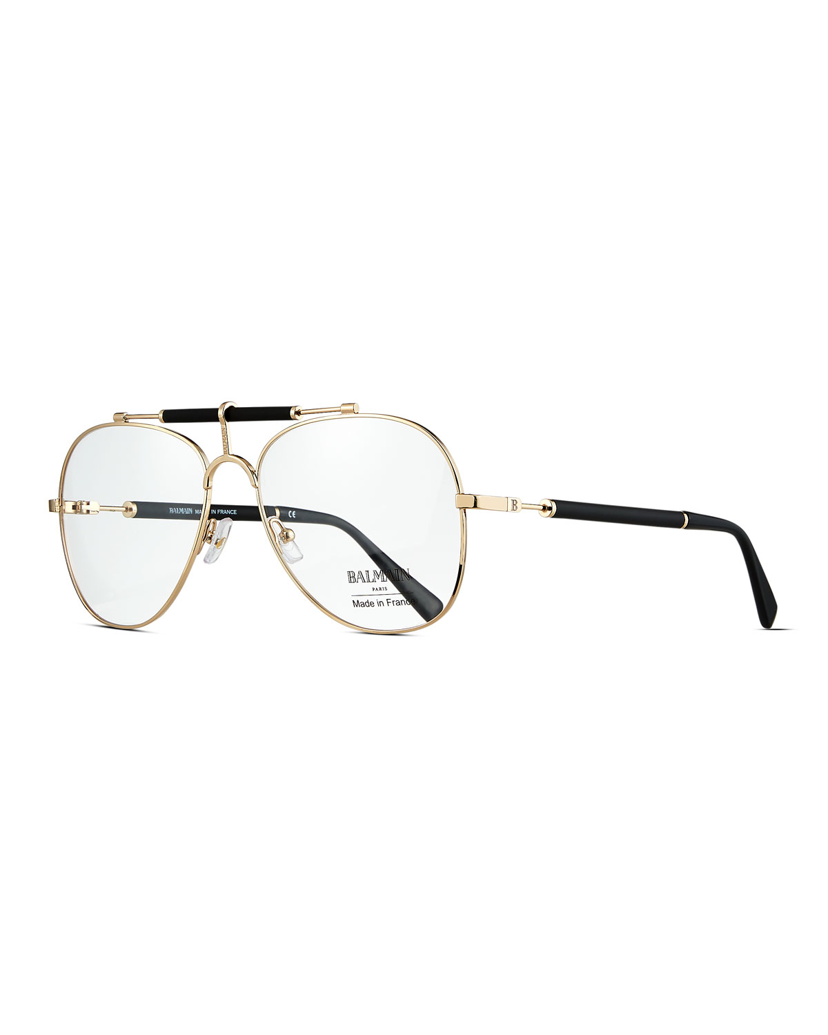 Balmain Metal Aviator Optical Frames | Neiman Marcus