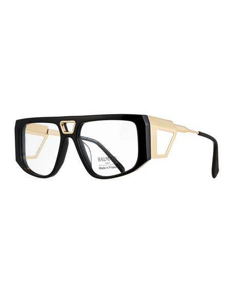 Balmain Acetate Shield Optical Frames