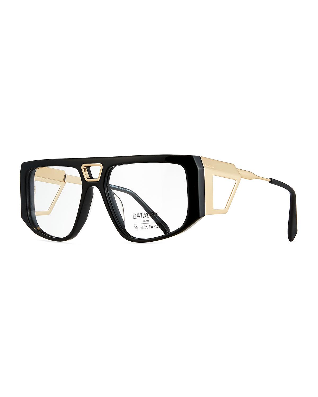 c1be272e1de2 Balmain Acetate Shield Optical Frames