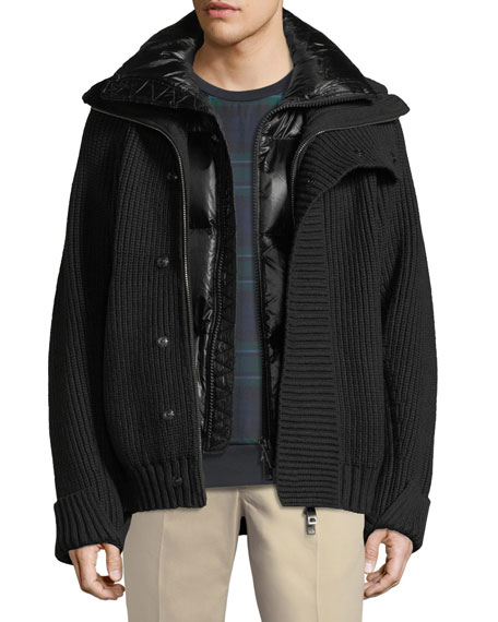 Wareham Knit Jacket with Quilted Vest