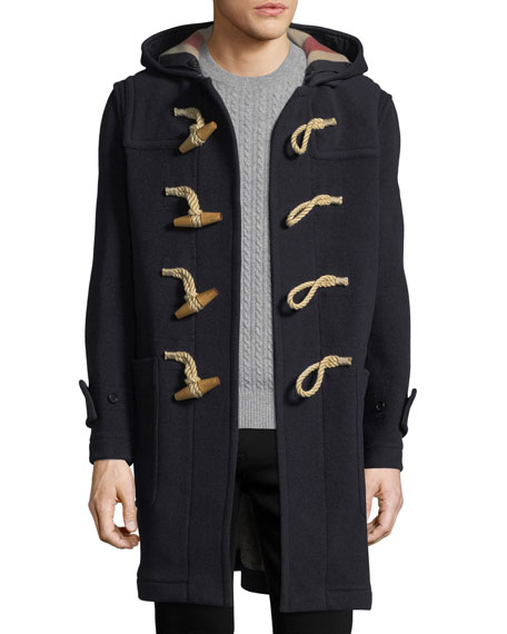 Burberry Greenwich Toggle-Front Wool-Blend Coat