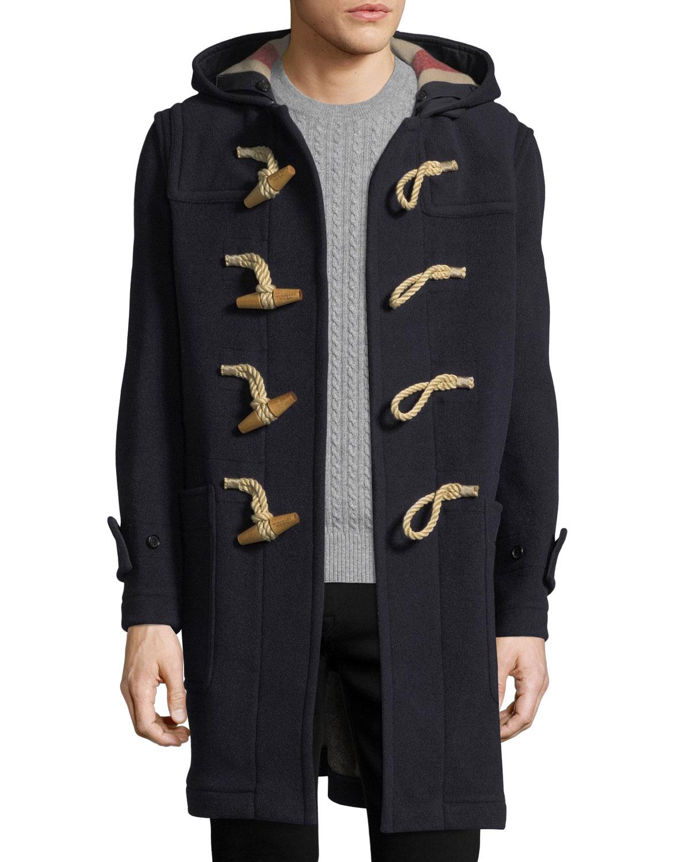 eb3f2135877e2 Burberry Greenwich Toggle-Front Wool-Blend Coat