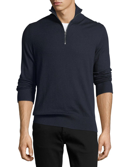 Rawlins Cashmere-Blend Sweater, Navy