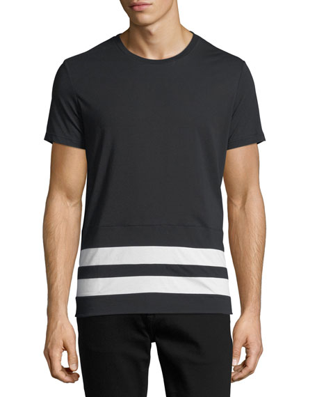 Radley Contrast-Stripe T-Shirt, Black