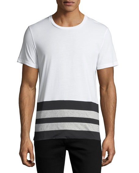 Burberry Radley Contrast-Stripe T-Shirt, White