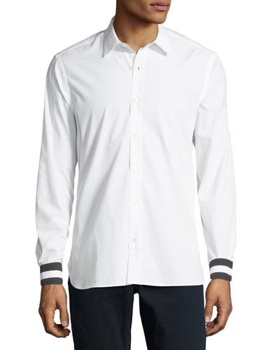 Reynold Contrast-Cuffs Sport Shirt