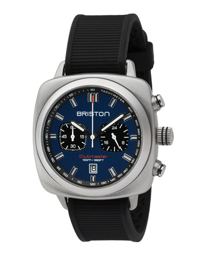 Clubmaster Sport Chronograph Watch, Black/Navy