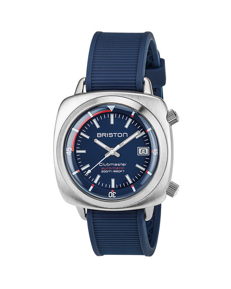 Briston Clubmaster Diver Automatic Watch, Blue