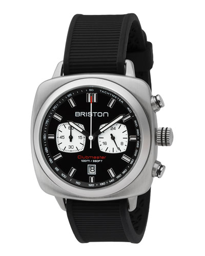Clubmaster Sport Chronograph Watch, Black/White