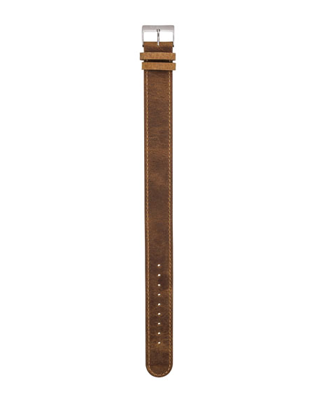Briston 20mm Leather Watch Strap, Brown