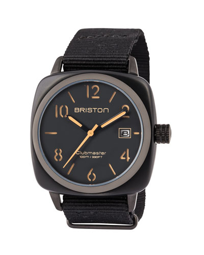 Clubmaster Classic HMS Date Watch, Black