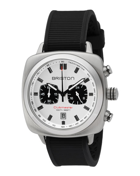 Briston Clubmaster Sport Chronograph Watch, White/Black