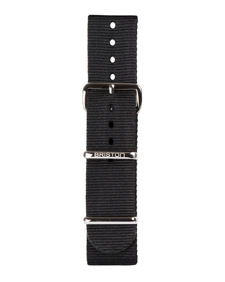 Briston 20mm Nylon NATO Watch Strap w/ Polished