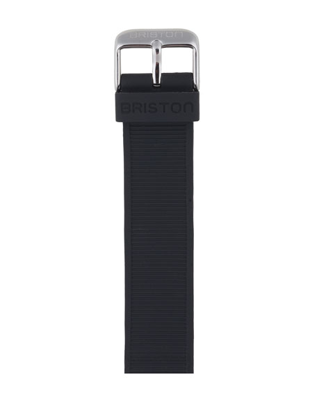 Briston 20mm Rubber NATO Watch Strap, Black