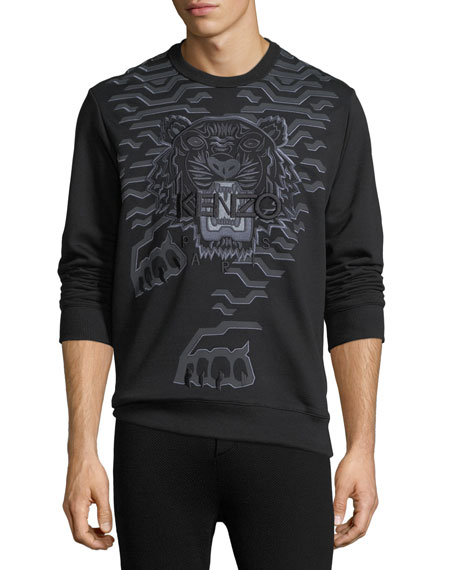 Kenzo Geometric Tiger-Graphic Sweatshirt