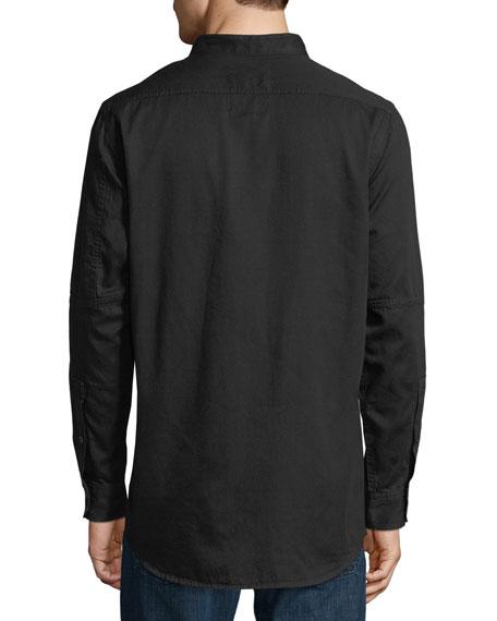Stalt Collarless Long-Sleeve Shirt