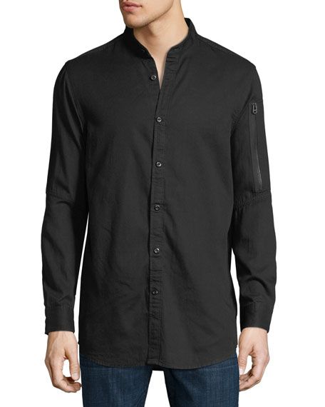 G-Star Stalt Collarless Long-Sleeve Shirt