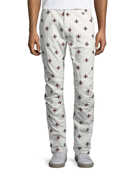 G-Star Fleur-de-Lis Embroidered Jeans