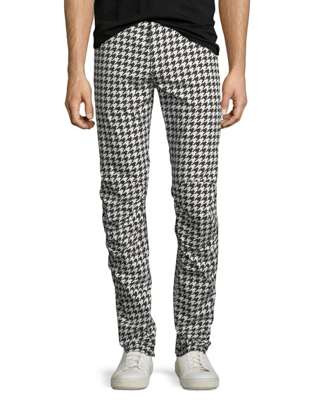 Powel Houndstooth Tapered Jeans
