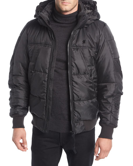 G-Star Whistler Hooded Puffer Bomber Jacket