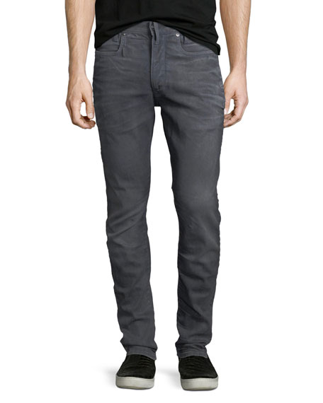 D-Staq 3S Super-Slim Jeans in Dark Aged Denim