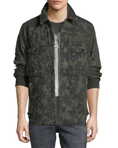 Type C Camouflage-Print Over-Shirt Jacket