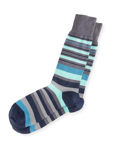 Fern Striped Socks