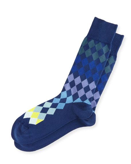 Tonal Harlequin Socks