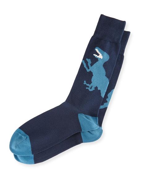 Paul Smith Dinosaur Intarsia Socks