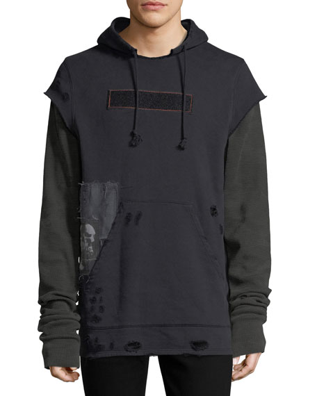 Hudson Leon Pullover Hoodie w/ Patches