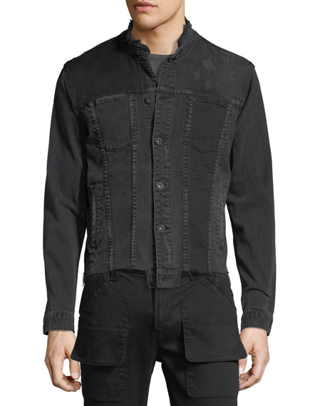 Men's Blaine Distressed Cropped Denim Jacket