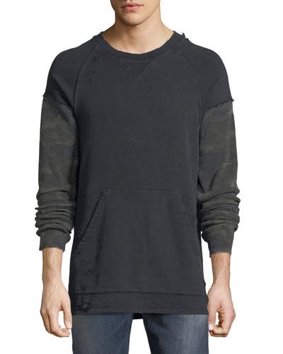 Striker Camo-Sleeve Sweatshirt