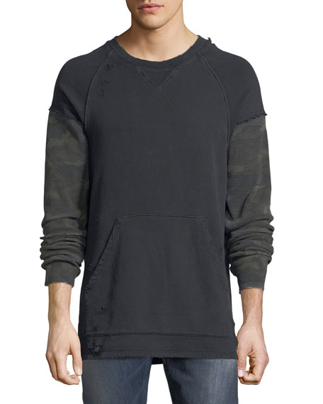 Hudson Men's Striker Camo-Sleeve Sweatshirt