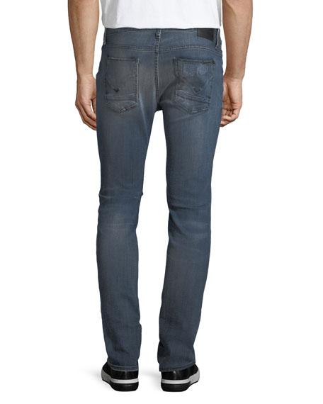 Men's Axl Rip & Repair Skinny Jeans, Battery