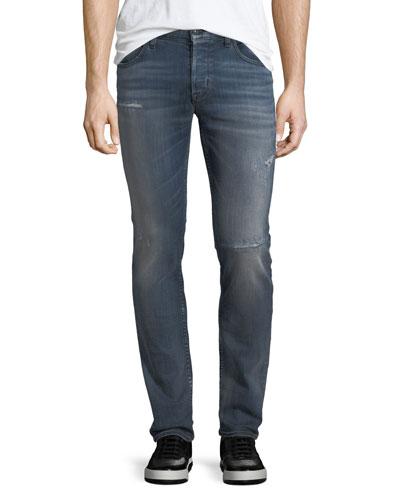 Axl Rip & Repair Skinny Jeans, Battery