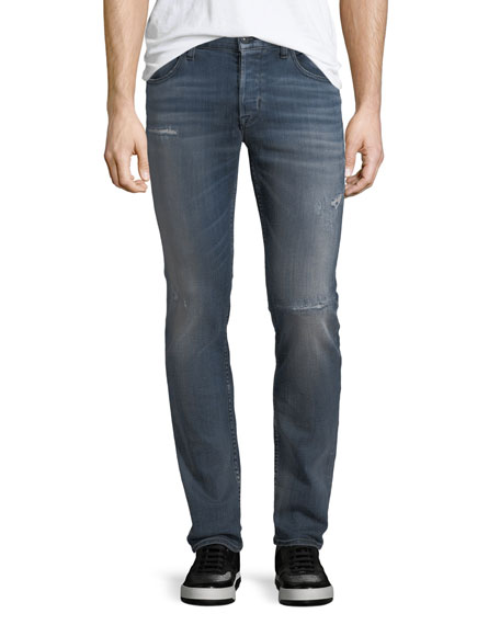Hudson Axl Rip & Repair Skinny Jeans, Battery