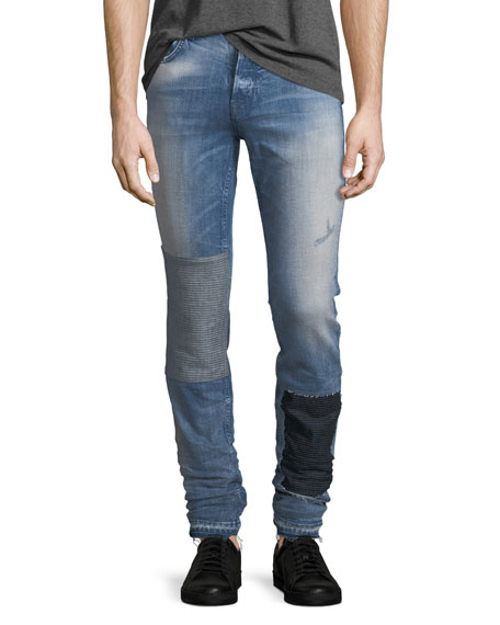 Hudson Sartor Slouchy Released-Hem Skinny Jeans in Wasted