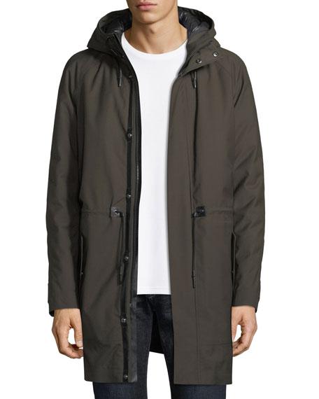 Mackage Twill Zip-Front Parka Coat