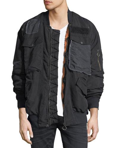 The Echo Oversized Bomber Jacket, Fade to Black