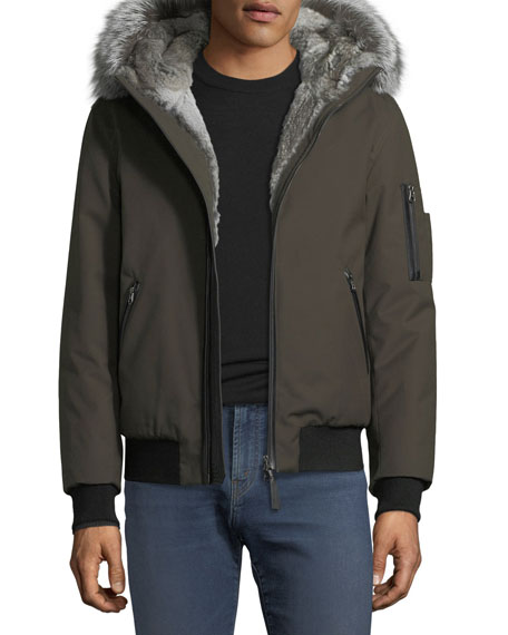 Mackage Fur-Lined Parka Bomber Jacket