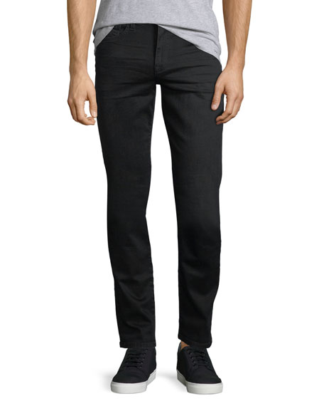Men's Brixton Kinetic Denim Slim-Straight Jeans, Black