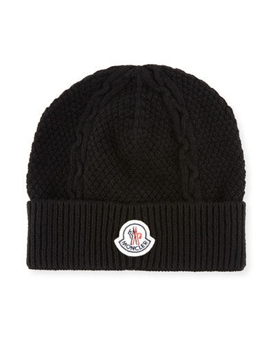 Men's Cable-Knit Cashmere Beanie Hat