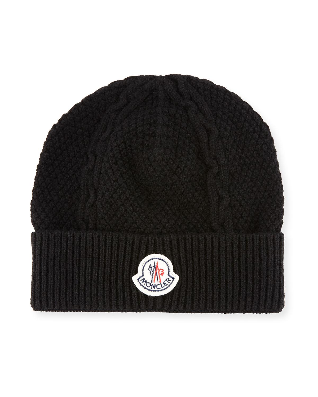 334c41e3d5a Moncler Men s Cable-Knit Cashmere Beanie Hat