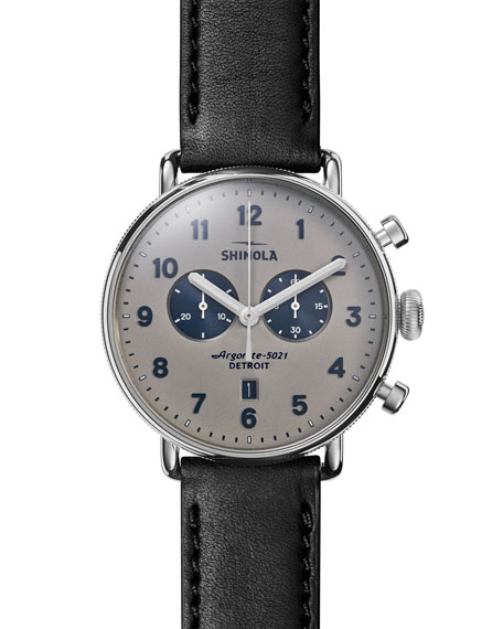 Shinola 43mm Canfield Chronograph Watch