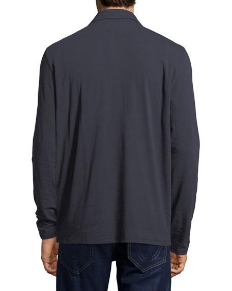 Long-Sleeve Polo Shirt