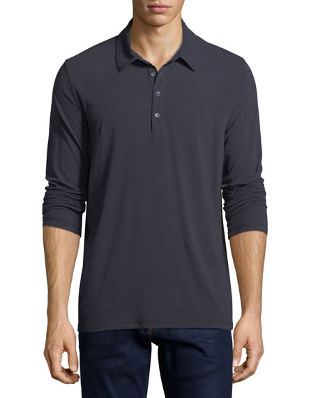 Majestic Long-Sleeve Polo Shirt