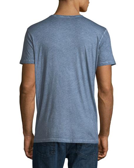 Hand-Dyed Short-Sleeve V-Neck T-Shirt