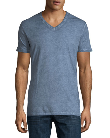 Majestic Hand-Dyed Short-Sleeve V-Neck T-Shirt